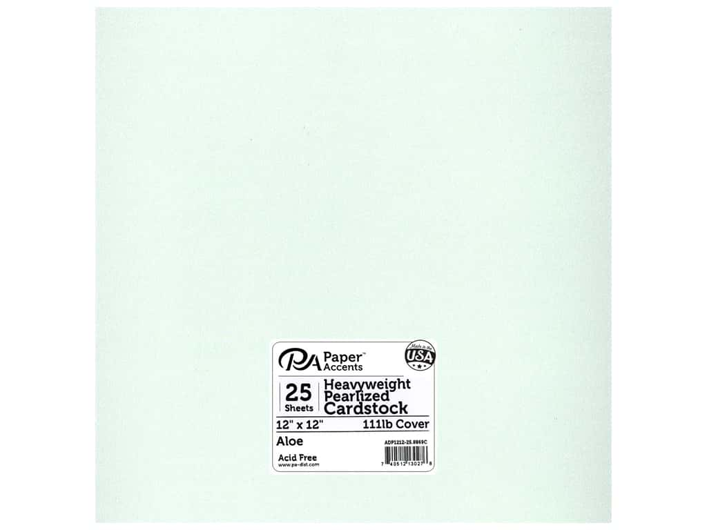 Paper Accents Cardstock 12 x 12 in. #8869C Pearlized Aloe 25 pc.