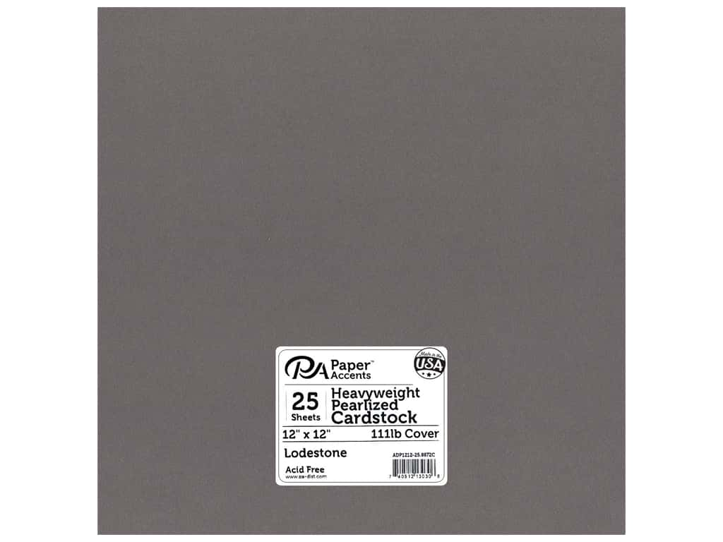 Paper Accents Cardstock 12 x 12 in. #8872C Pearlized Lodestone 25 pc.