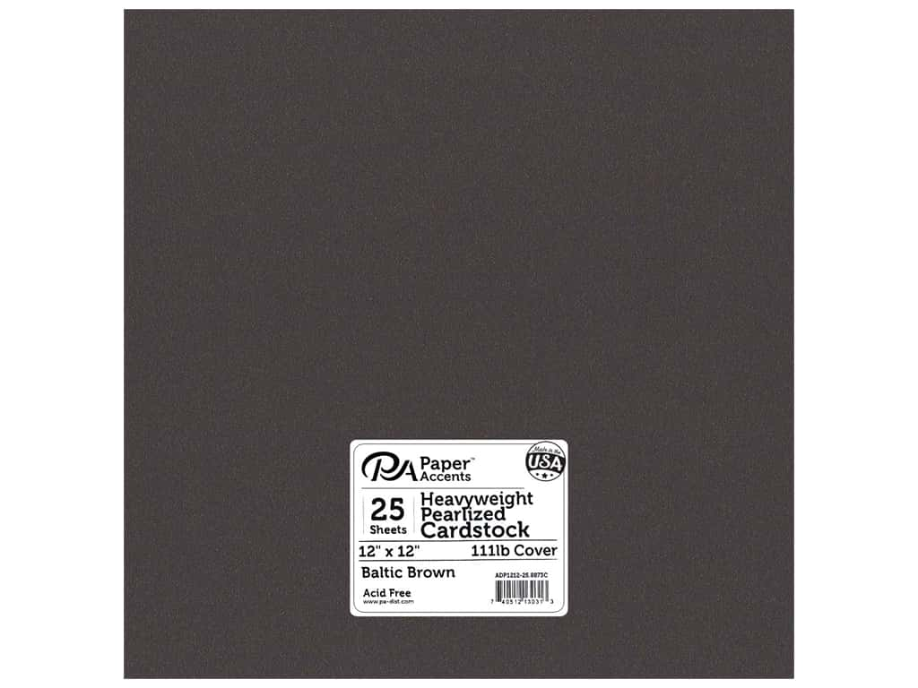 Paper Accents Cardstock 12 x 12 in. #8873C Pearlized Baltic Brown 25 pc.