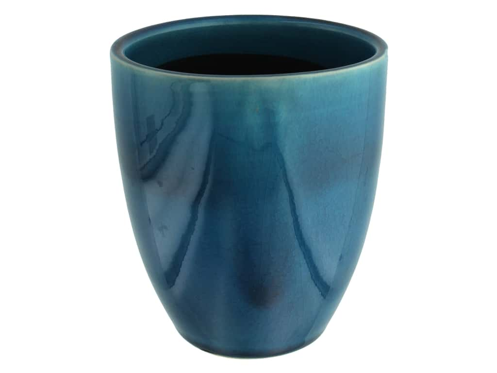 Leisure Arts Ceramic Vase - Blue