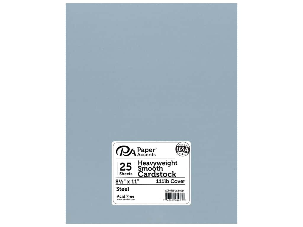 Paper Accents Cardstock 8 1/2 x 11 in. #50014 Heavyweight Smooth Steel 25 pc.