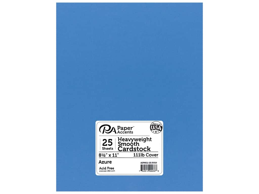 Paper Accents Cardstock 8 1/2 x 11 in. #50010 Heavyweight Smooth Azure 25 pc.