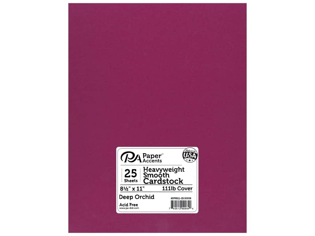 Paper Accents Cardstock 8 1/2 x 11 in. #50008 Heavyweight Smooth Deep Orchid 25 pc.