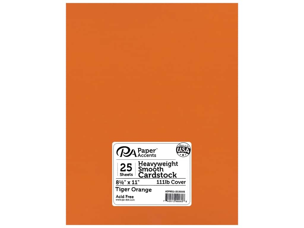 Paper Accents Cardstock 8 1/2 x 11 in. #50005 Heavyweight Smooth Tiger Orange 25 pc.