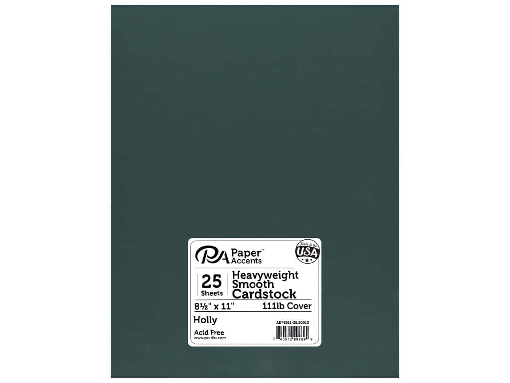 Paper Accents Cardstock 8 1/2 x 11 in. #50013 Heavyweight Smooth Holly 25 pc.