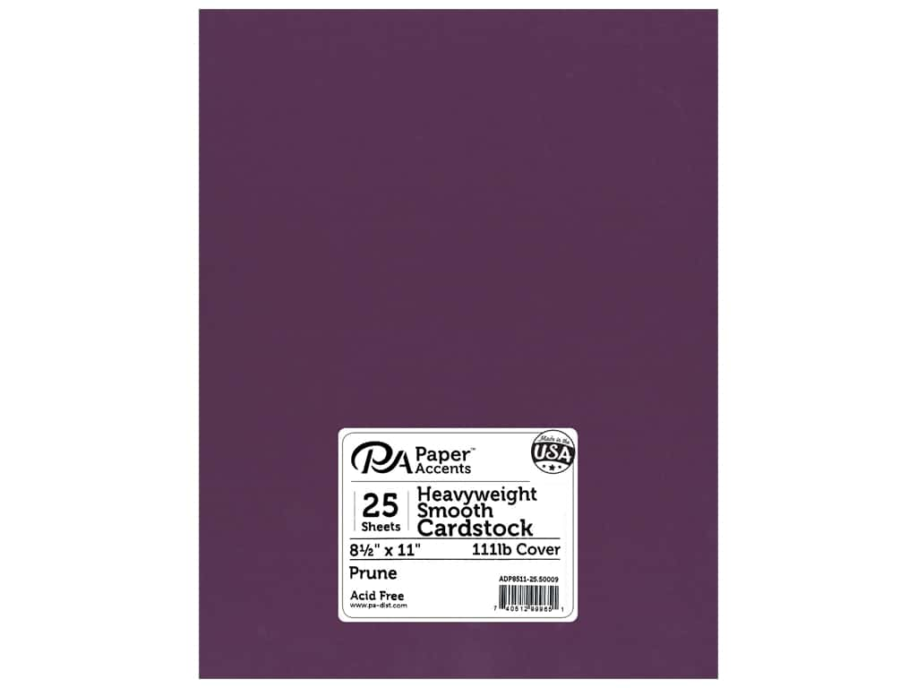 Paper Accents Cardstock 8 1/2 x 11 in. #50009 Heavyweight Smooth Prune 25 pc.
