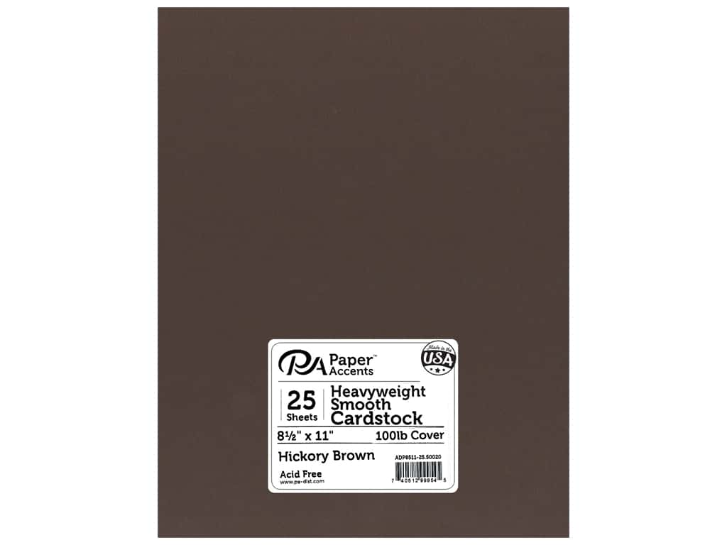 Paper Accents Cardstock 8 1/2 x 11 in. #50020 Heavyweight Smooth Hickory Brown 25 pc.