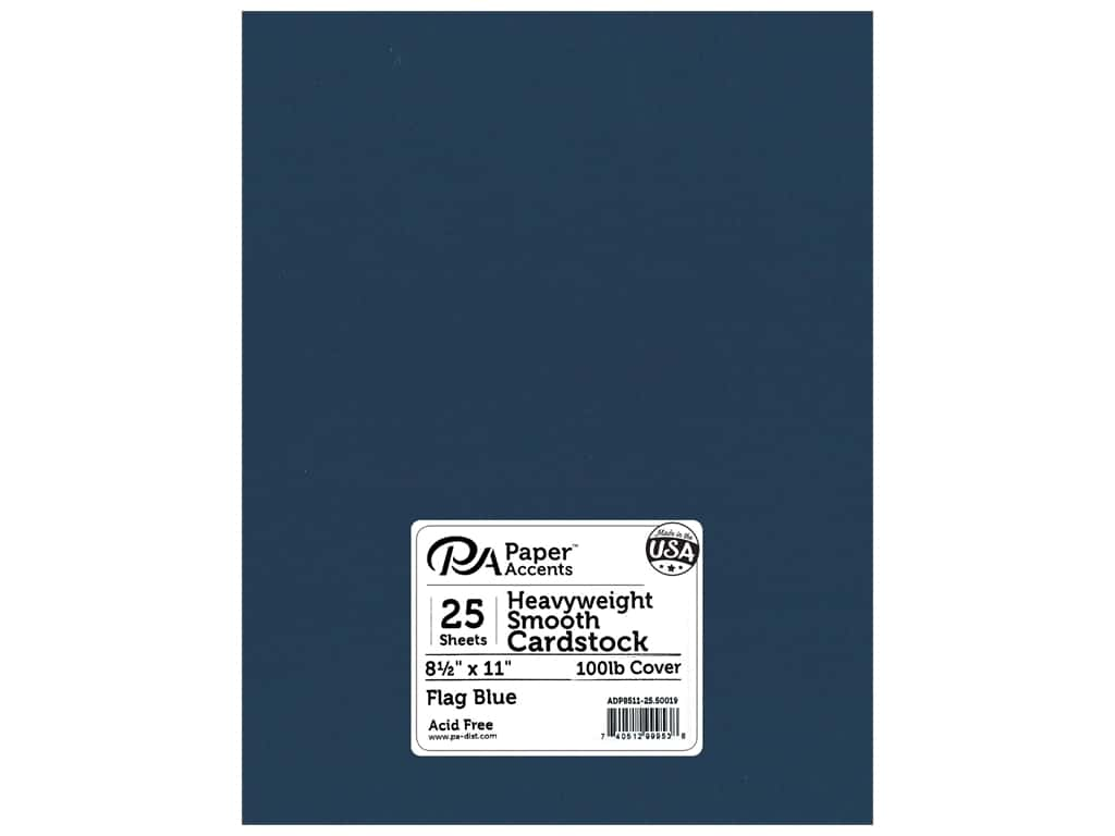 Paper Accents Cardstock 8 1/2 x 11 in. #50019 Heavyweight Smooth Flag Blue 25 pc.
