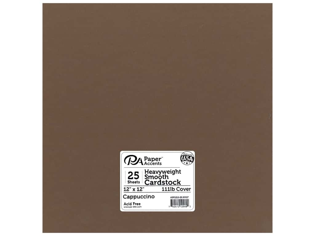 Paper Accents Cardstock 12 x 12 in. #50017 Heavyweight Smooth Cappuccino 25 pc.