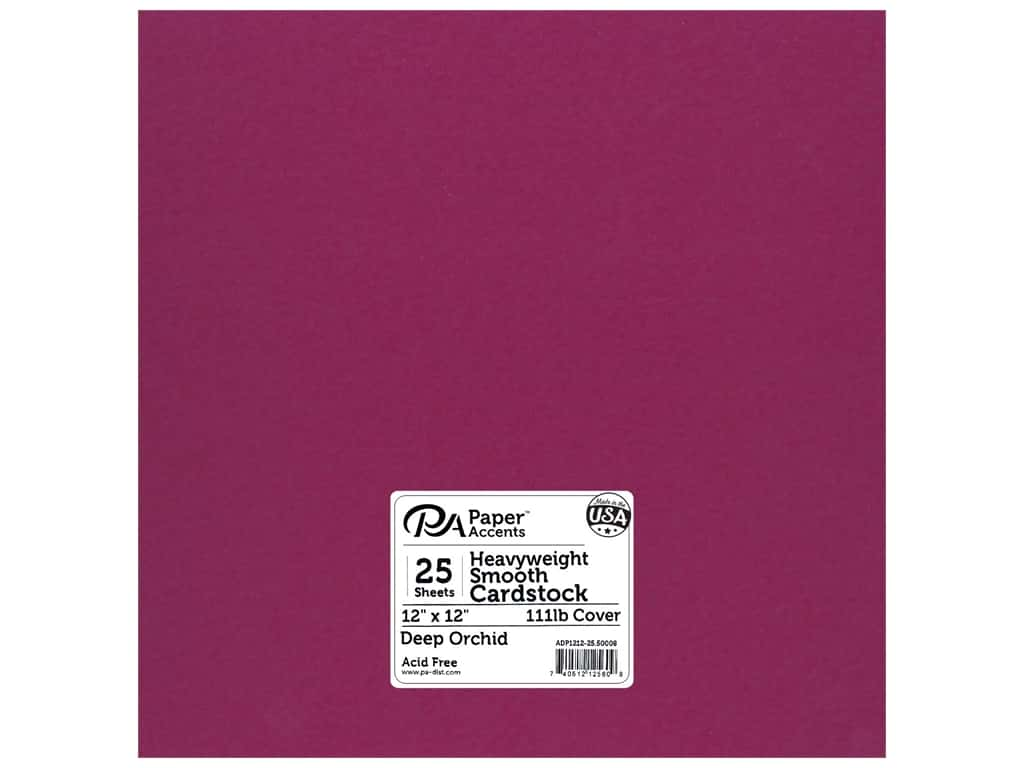 Paper Accents Cardstock 12 x 12 in. #50008 Heavyweight Smooth Deep Orchid 25 pc.