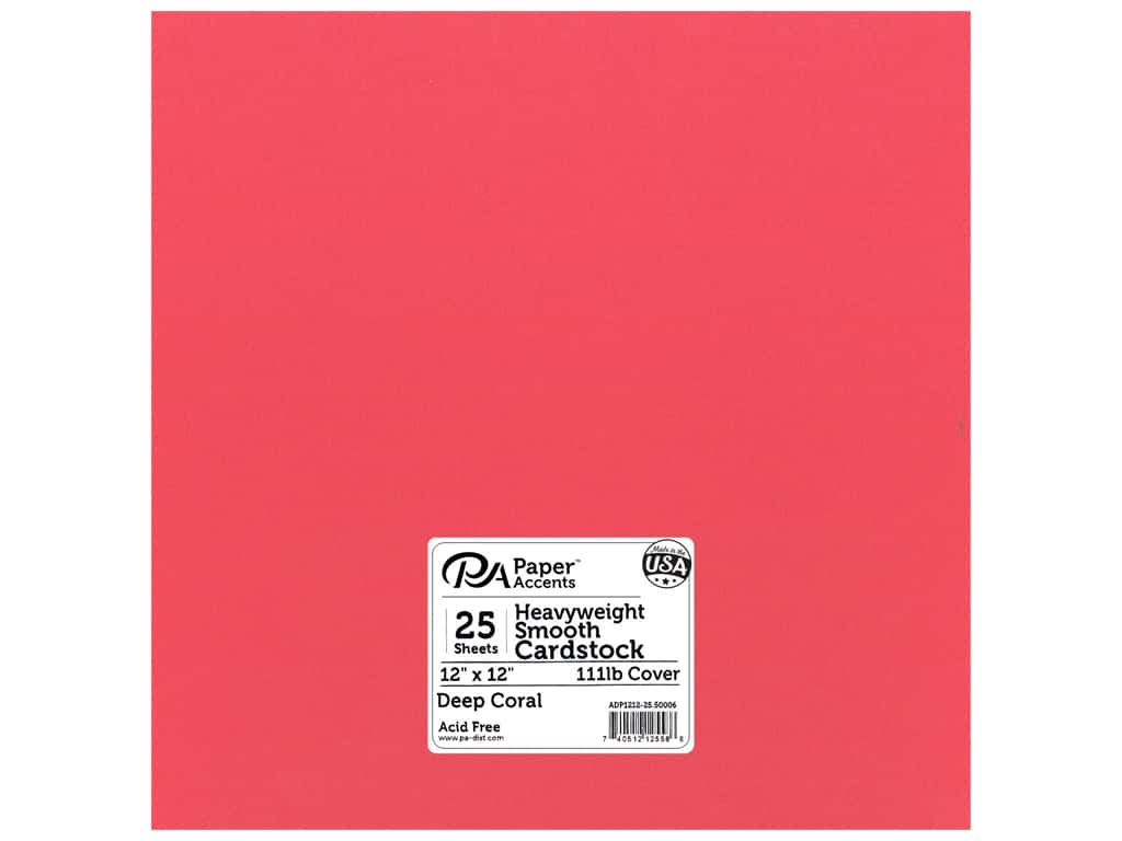 Paper Accents Cardstock 12 x 12 in. #50006 Heavyweight Smooth Deep Coral