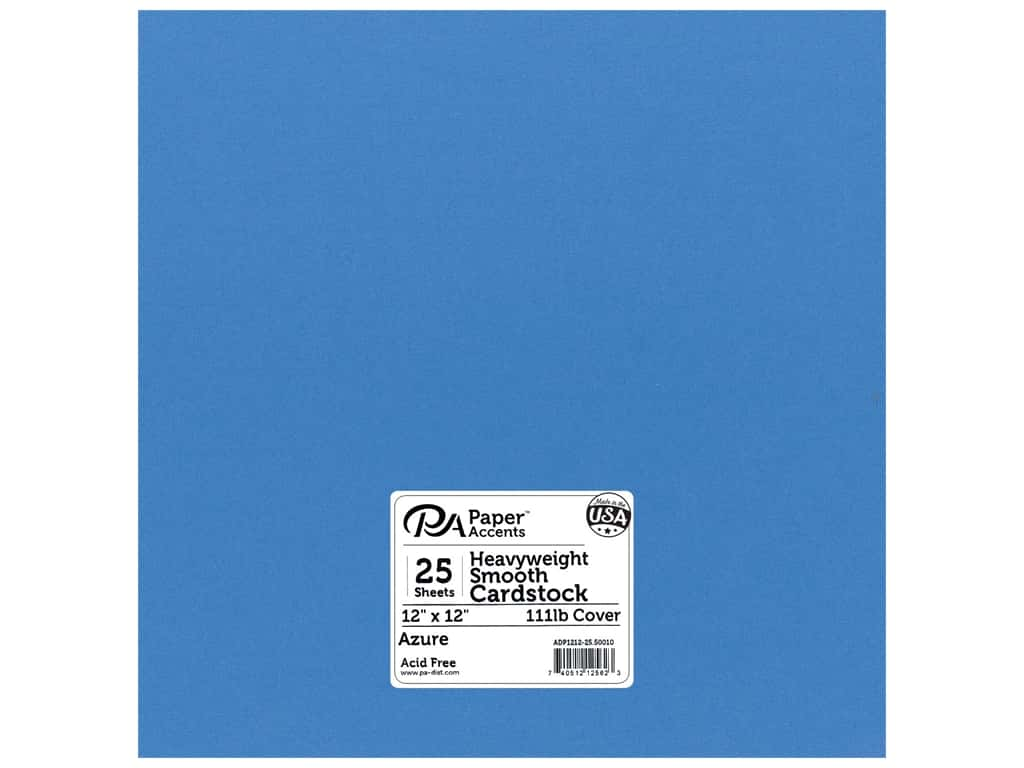 Paper Accents Cardstock 12 x 12 in. #50010 Heavyweight Smooth Azure 25 pc.
