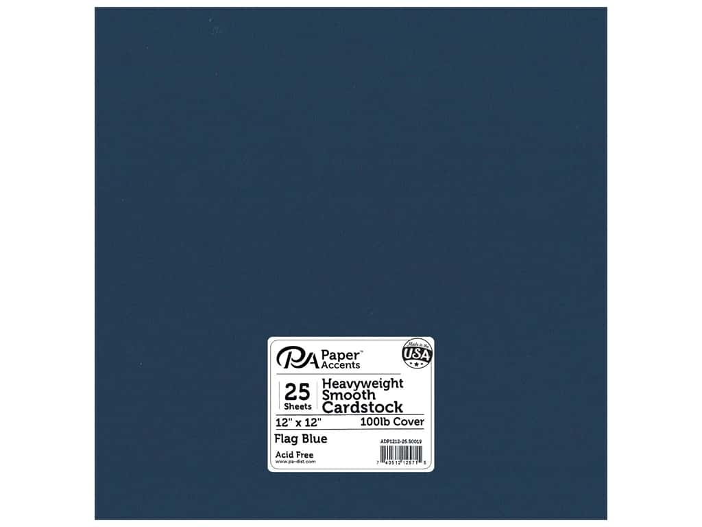 Paper Accents Cardstock 12 x 12 in. #50019 Heavyweight Smooth Flag Blue 25 pc.