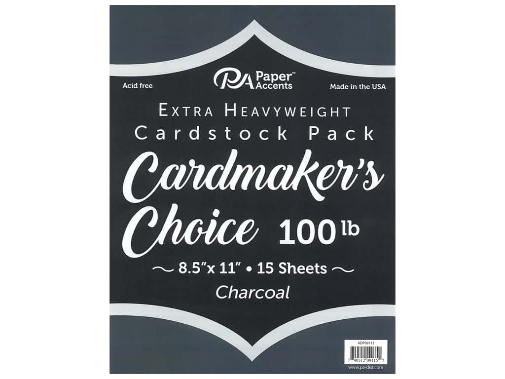 Paper Accents Cardstock 8 1/2 x 11 in. Cardmakers Choice Charcoal 15 pc.