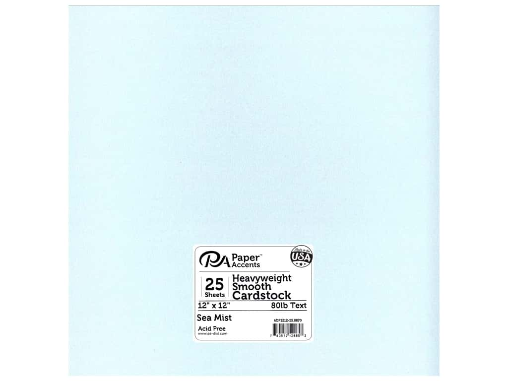 Paper Accents Pearlized Paper 12 x 12 in. #8870 Sea Mist
