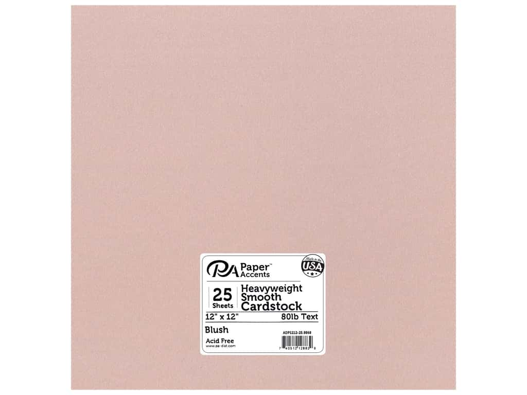 Paper Accents Pearlized Paper 12 x 12 in. #8868 Blush