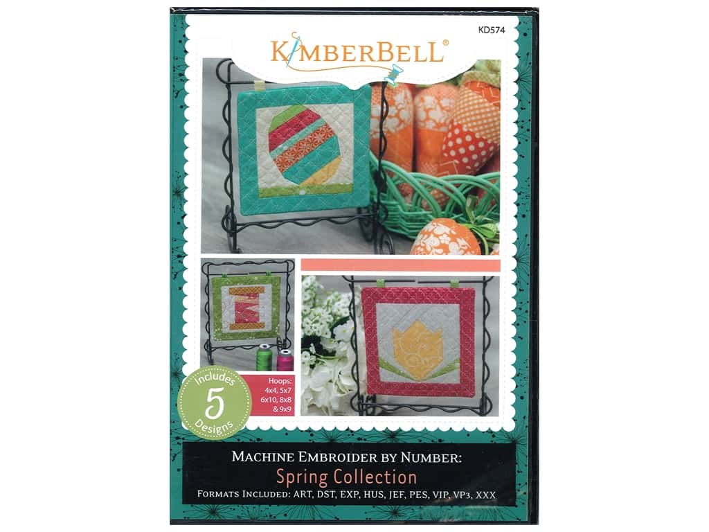 Kimberbell Designs Machine Embroider By Number Spring CD