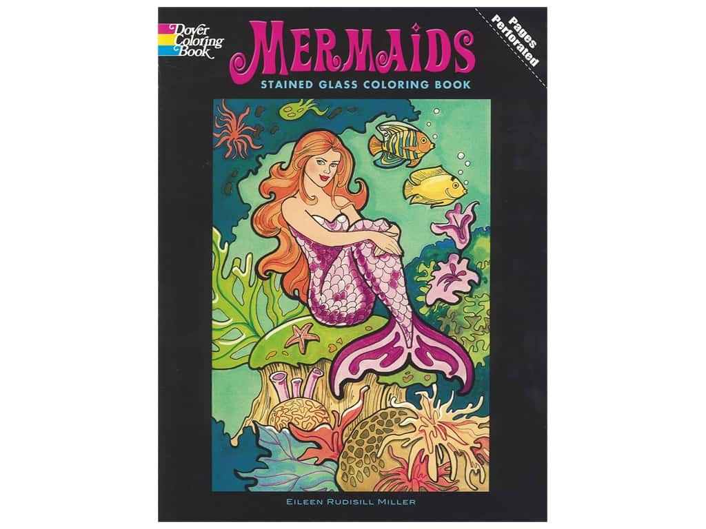 Dover Publications Mermaids Stained Glass Coloring Book