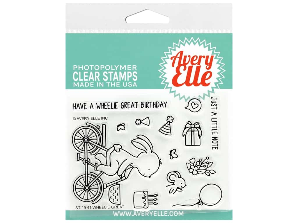 Avery Elle Clear Stamp Wheelie Great