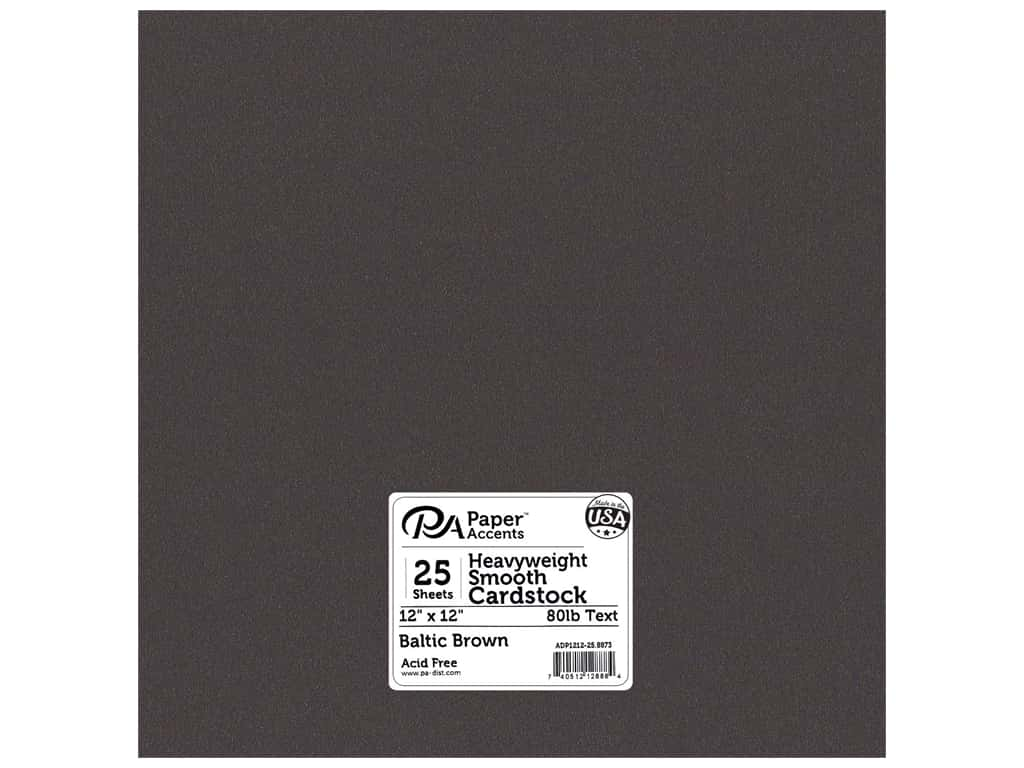 Paper Accents Pearlized Paper 12 x 12 in. #8873 Baltic Brown