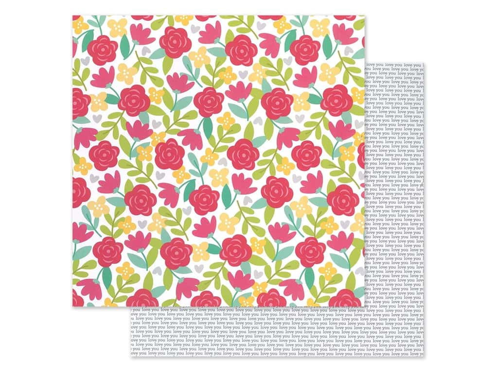 Doodlebug Collection Love Notes Paper 12 in. x 12 in. Secret Admirer (25 pieces)