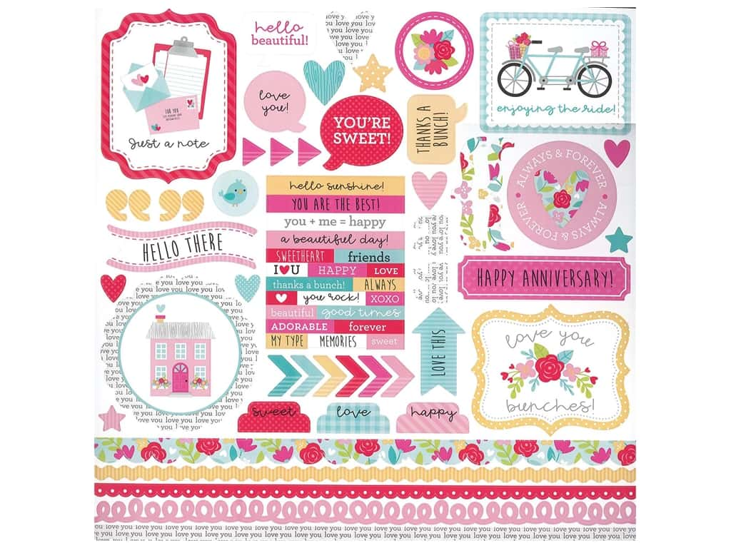 Doodlebug Collection Love Notes Stickers This & That Love Notes