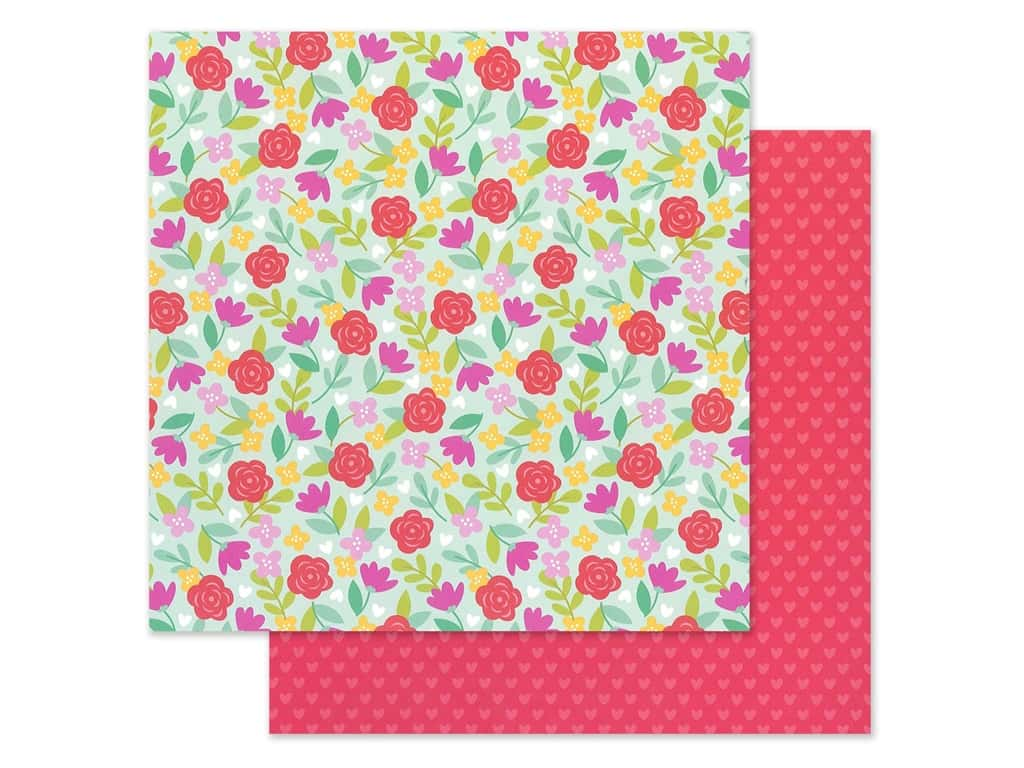 Doodlebug Collection Love Notes Paper 12 in. x 12 in. Rose Garden (25 pieces)