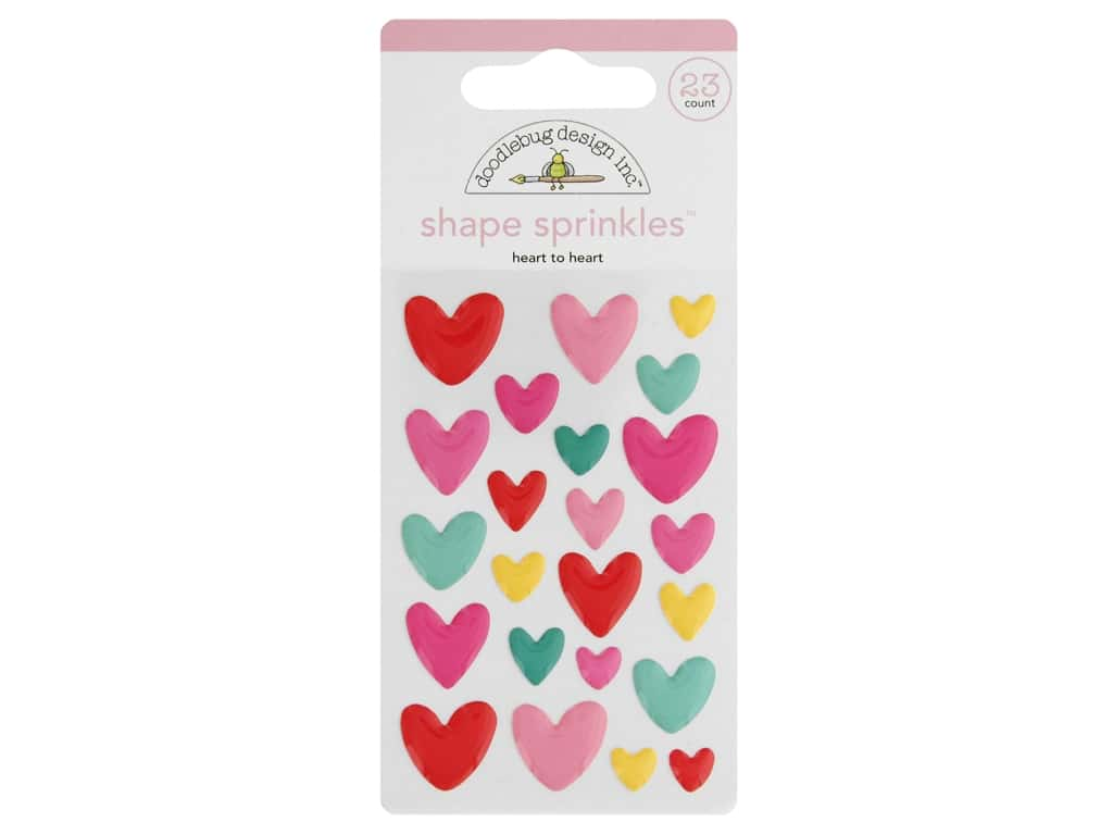 Doodlebug Collection Love Notes Sprinkles Shape Heart To Heart