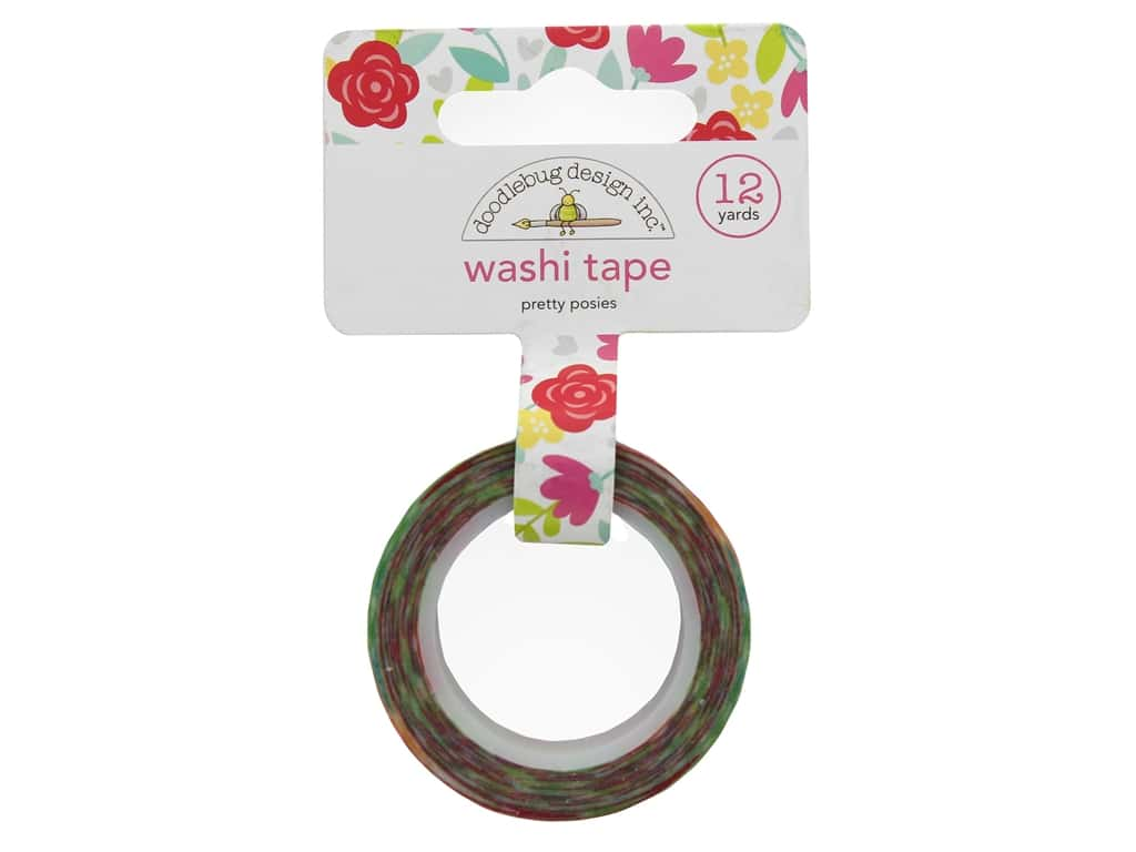 Doodlebug Collection Love Notes Washi Tape Pretty Posies