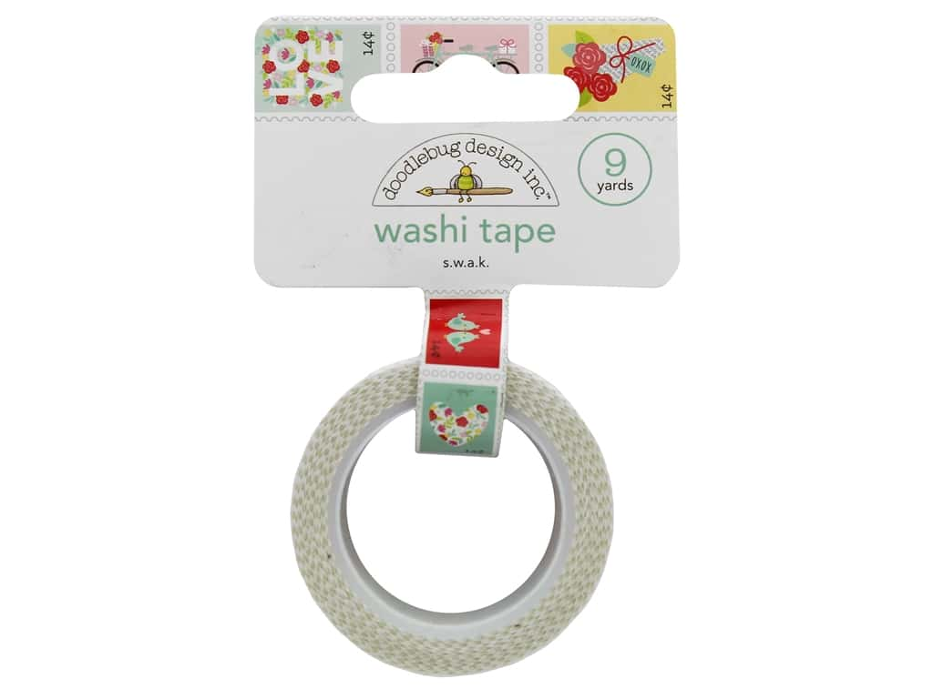 Doodlebug Collection Love Notes Washi Tape S W A K