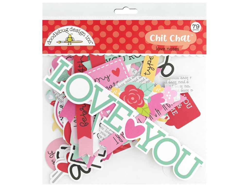 Doodlebug Collection Love Notes Chit Chat Love Notes