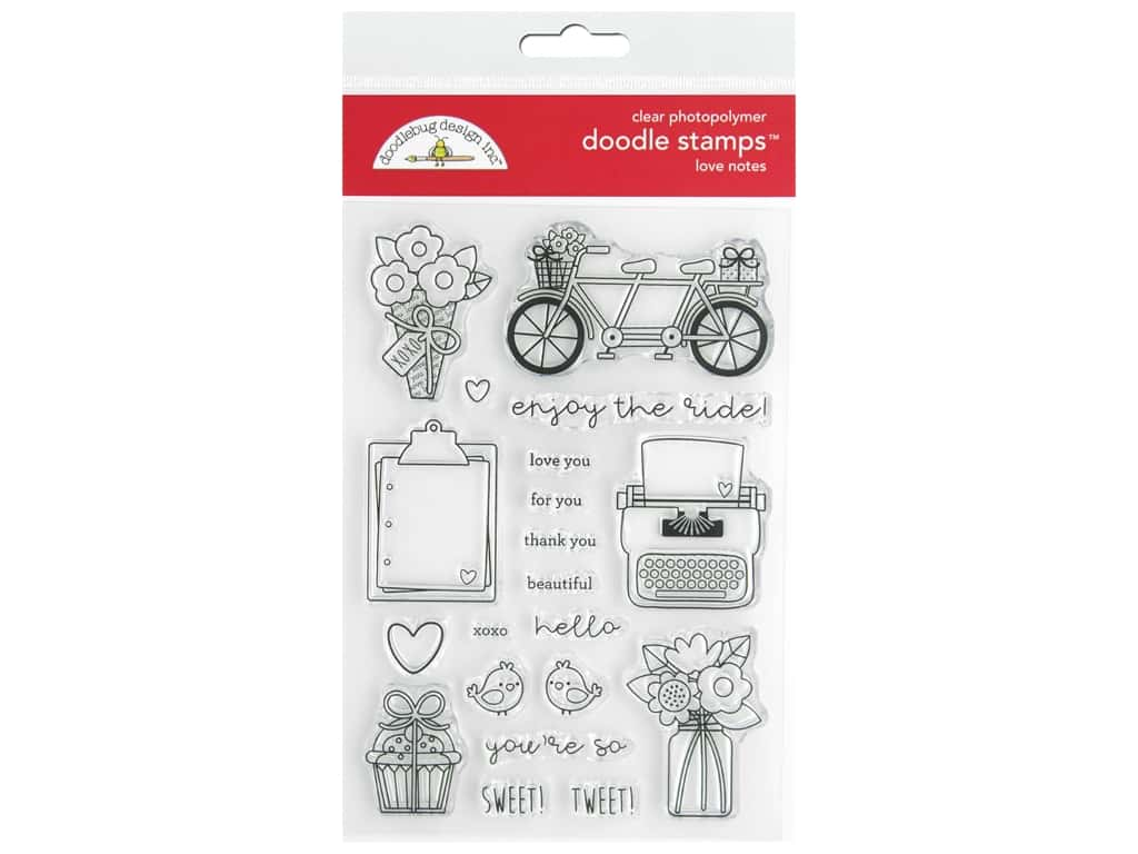 Doodlebug Collection Love Notes Doodle Stamps Love Notes