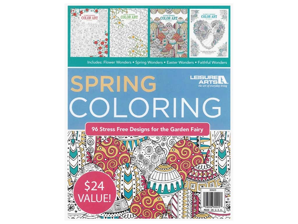 Spring Coloring Book Bundle