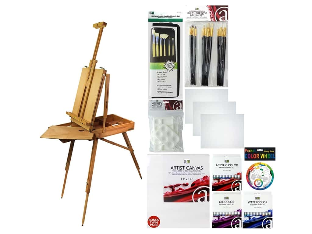 Art Advantage Art Set Deluxe Value Pack With French Easel