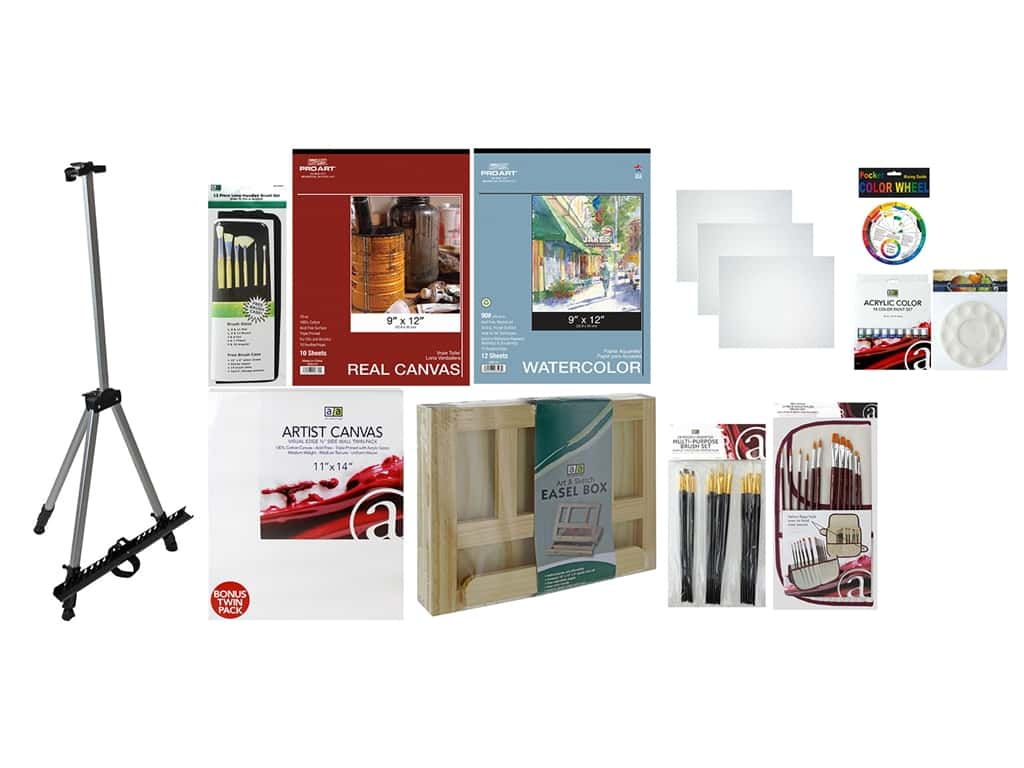 Art Advantage Art Set Deluxe Value Pack With Field Easel
