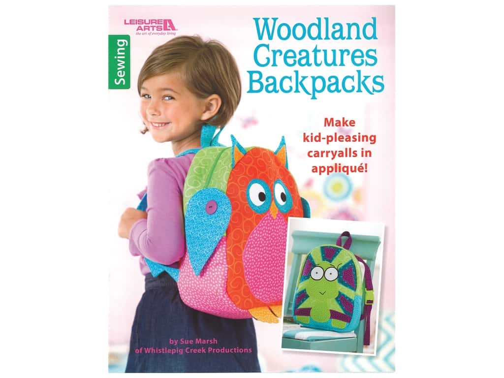Leisure Arts Woodland Creatures Backpacks Book
