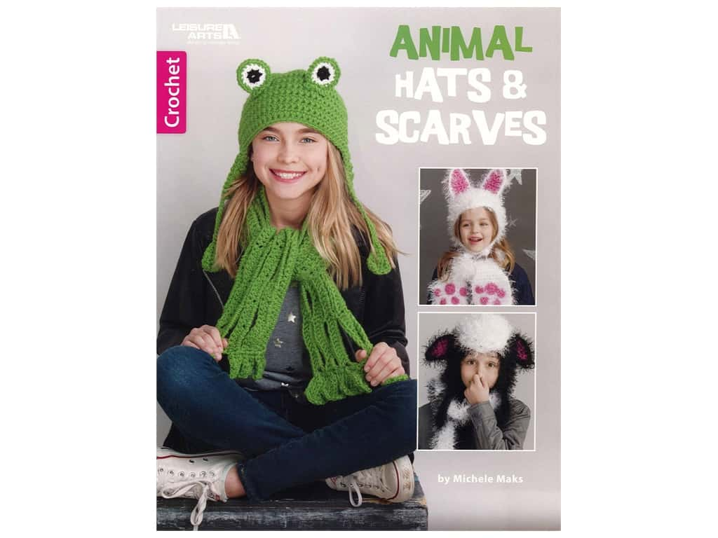 Leisure Arts Animal Hats & Scarves Book