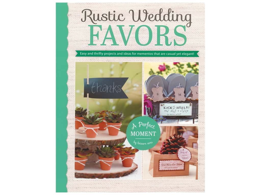 Leisure Arts Rustic Wedding Favors Book