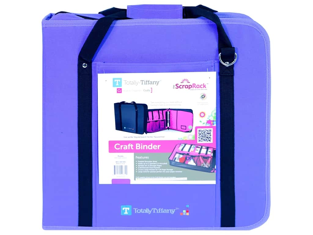 Totally Tiffany Craft Binder Purple