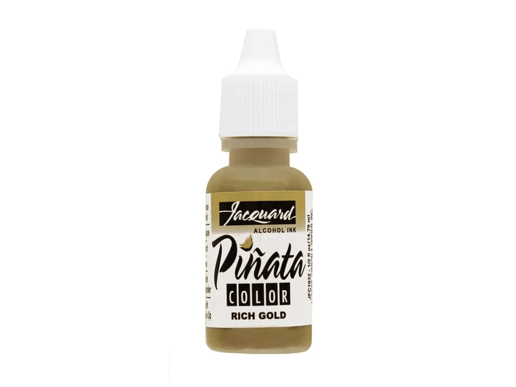 Jacquard Pinata Color Alcohol Ink .5 oz. Rich Gold