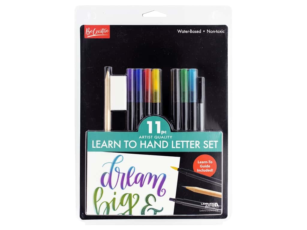 Leisure Arts Kit Learn To Hand Letter Set