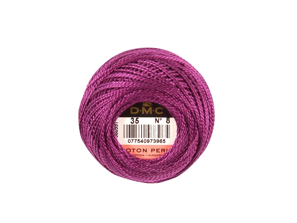 DMC Pearl Cotton Ball Size 8 #0035 Very Dark Fuchsia (10 balls)