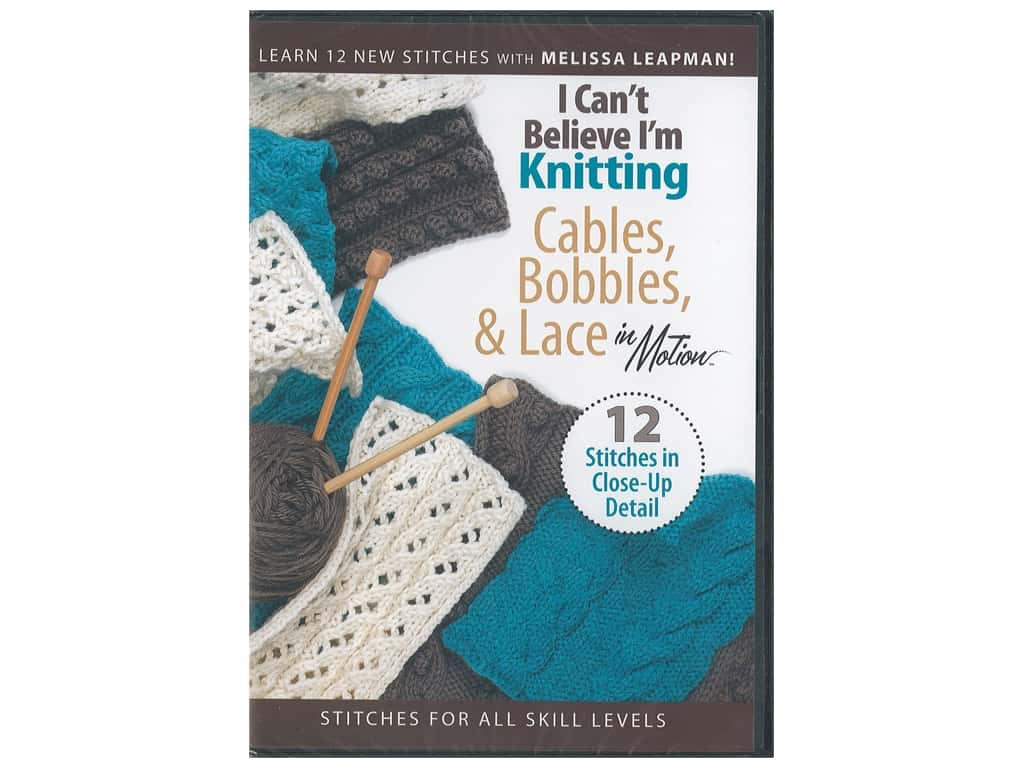 Leisure Arts I Can't Believe I'm Knitting Cables DVD