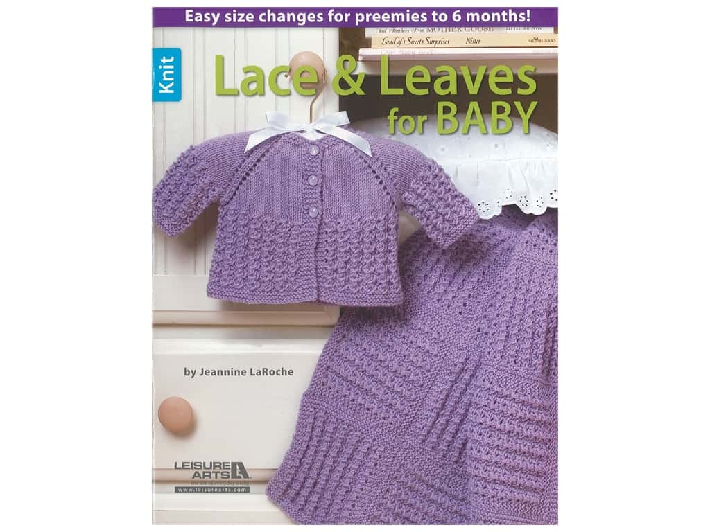 Leisure Arts Lace & Leaves For Baby Knit Book