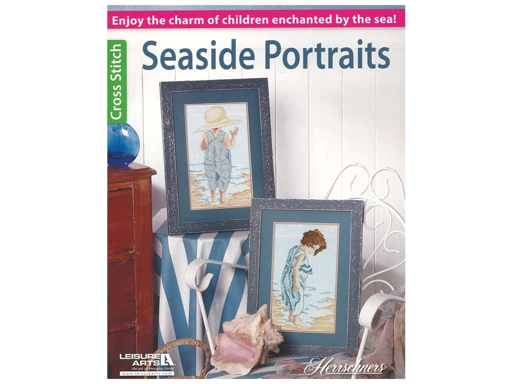Leisure Arts Herrschners Seaside Portraits Cross Stitch Book