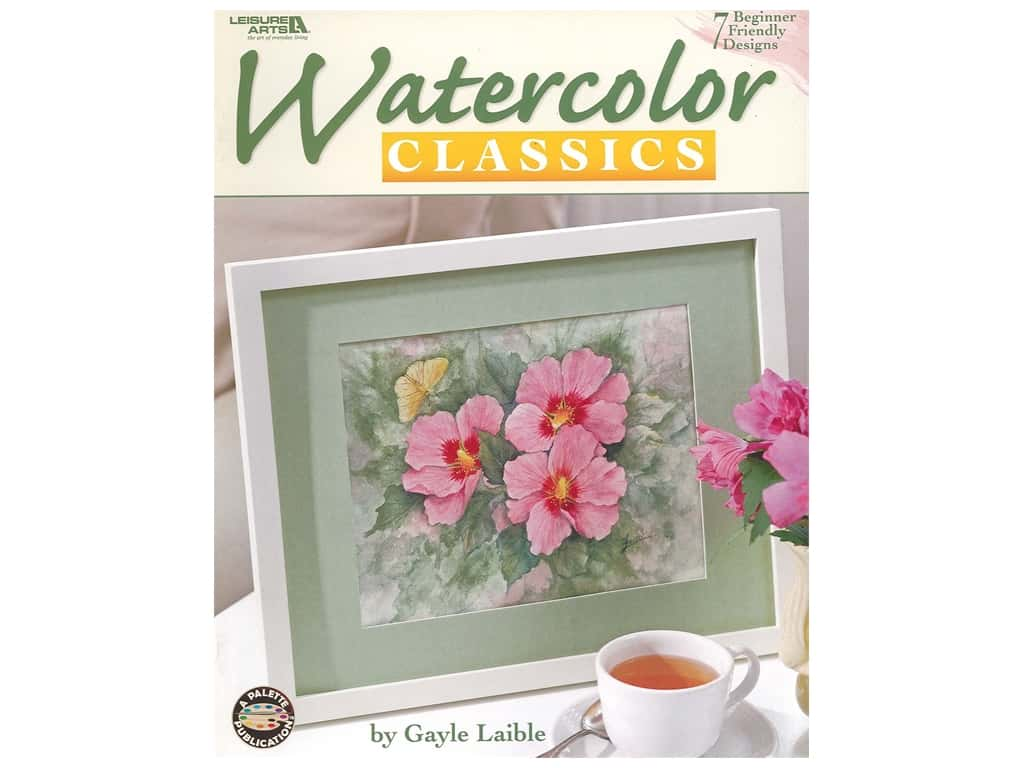 Leisure Arts Watercolor Classics Book