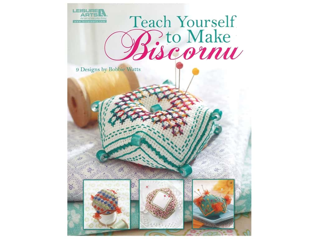 Leisure Arts Teach Yourself To Make Biscornu Embroidery Book