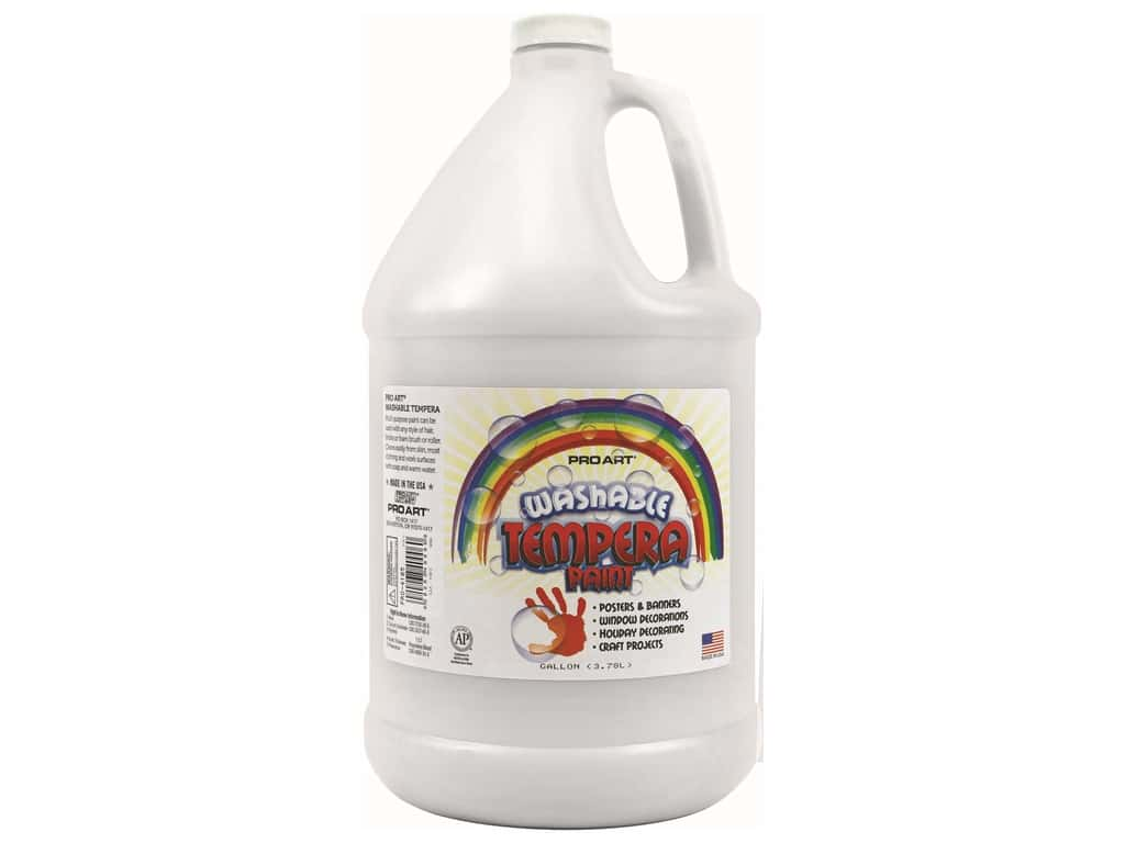 Pro Art Washable Tempera Paint Gallon White