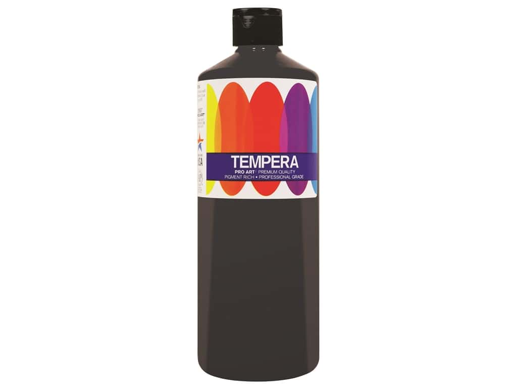 Pro Art Liquid Tempera Paint 16 oz. Black