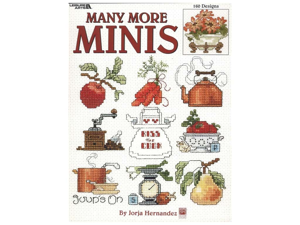 Leisure Arts Many More Minis Cross Stitch Book